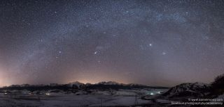 Winter Milky Way Over Colorado by McVey