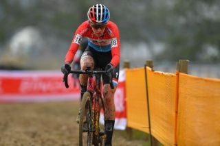 BOOM BELGIUM DECEMBER 06 Christine Majerus of Luxembourg and Boels Dolmans Cyclingteam during the 6th Superprestige Cyclocross Boom 2020 Women Elite De Schorre Boom Superprestige2021 SPBoom SuperprestigeCX on December 06 2020 in Boom Belgium Photo by Luc ClaessenGetty Images