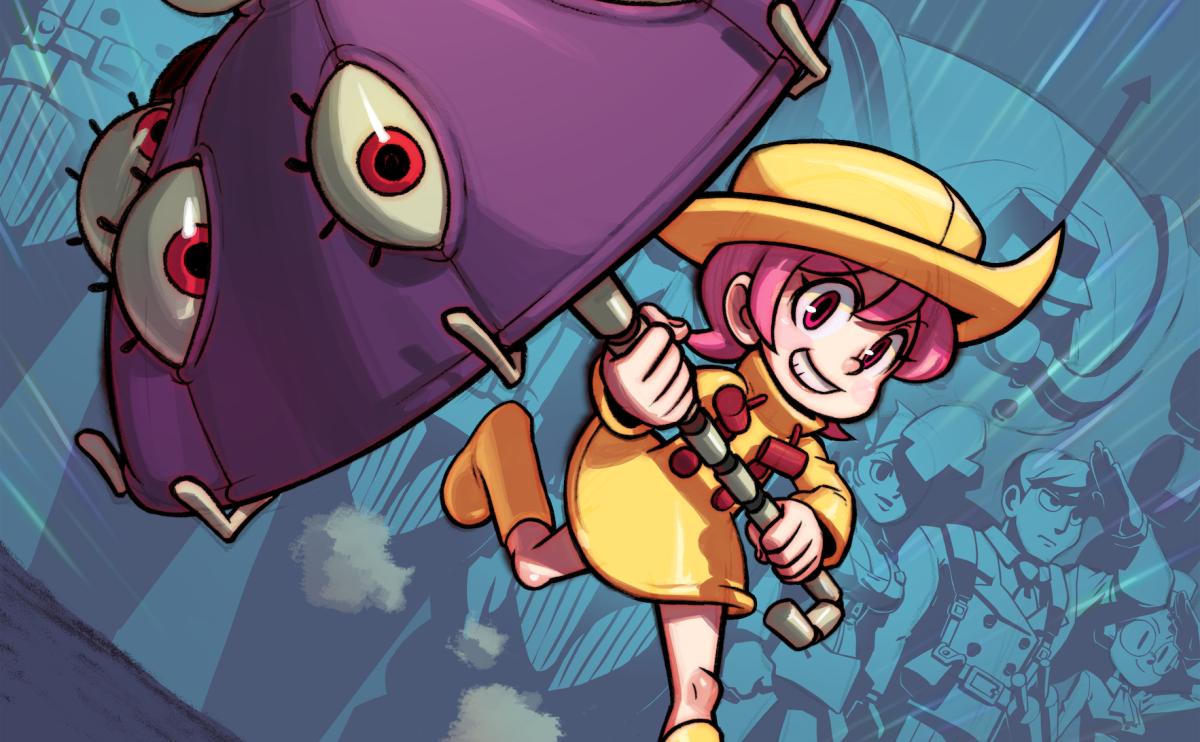 The new Skullgirls character has a living umbrella that eats people