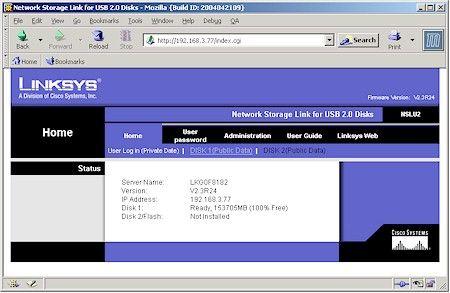 Linksys Ip Address >> Setup Admin Security Warning Linksys Network Storage