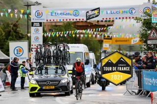 Nic Dlamini finishes stage 9 of the 2021 Tour de France