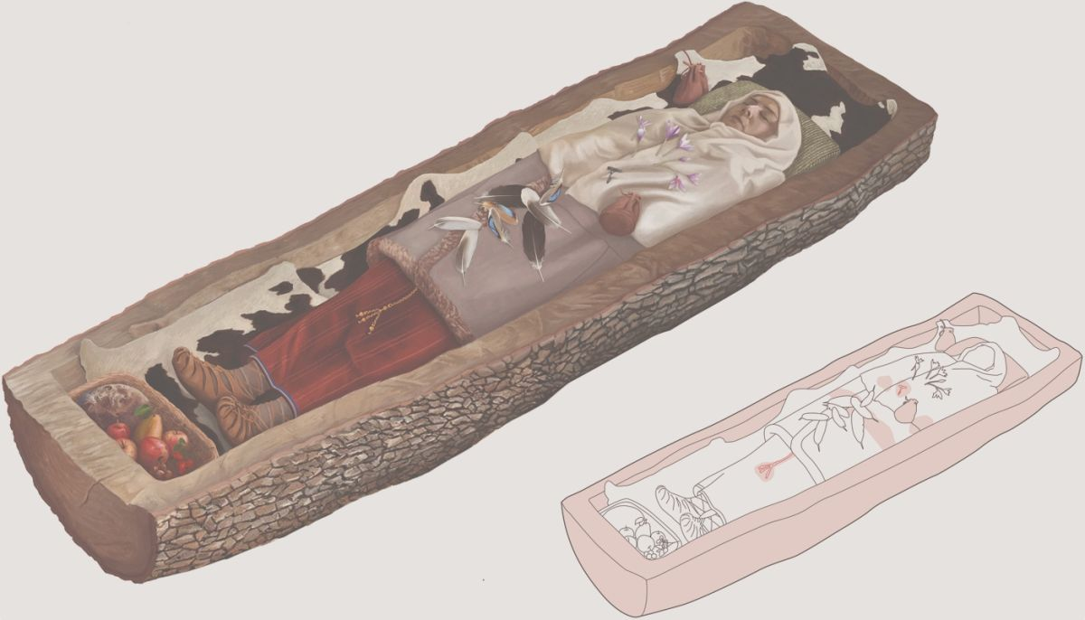 Iron Age Celtic Woman Wearing Fancy Clothes Buried in This 'Tree Coffin' in Switzerland