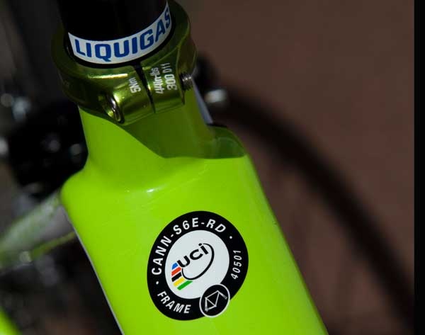 uci, approval, sticker, cannondale