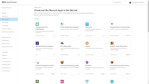 Wix's App Market