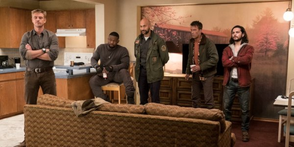 The Predator soldiers lined up to explain themselves in a hotel room