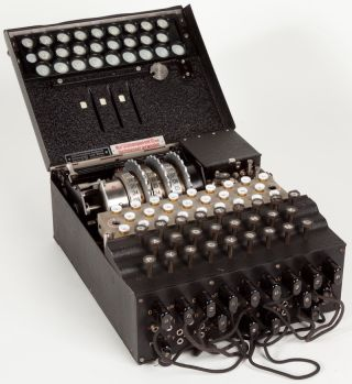 A military Enigma machine used during the late 1930s.