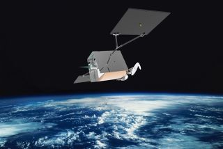 An artist's impression of a satellite by OneWeb.