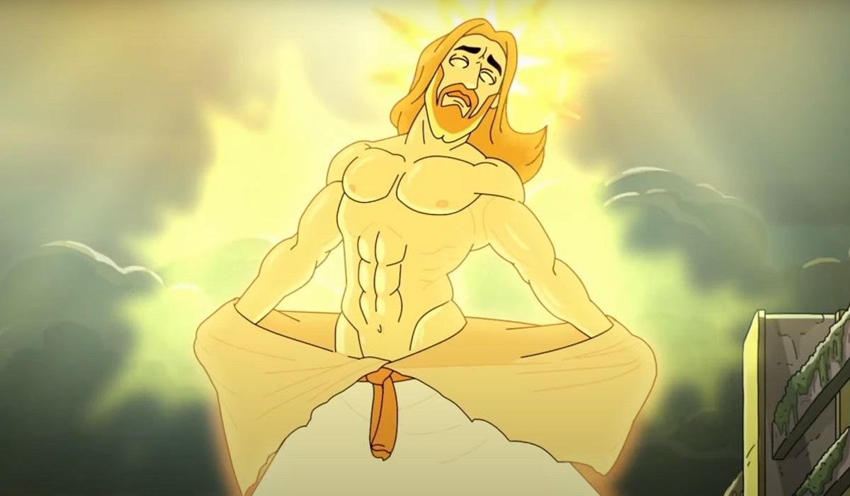 Jesus Rick And Morty Adult Swim