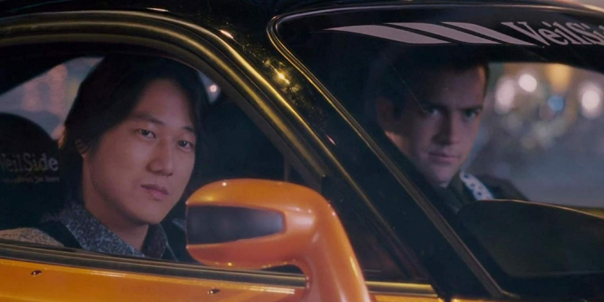 Sung Kang and Lucas Black in The Fast and the Furious: Tokyo Drift