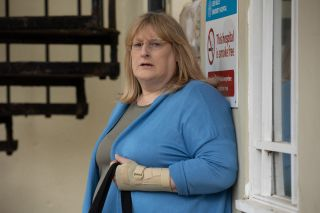 Sally St Claire is having a tough time in prison in Hollyoaks