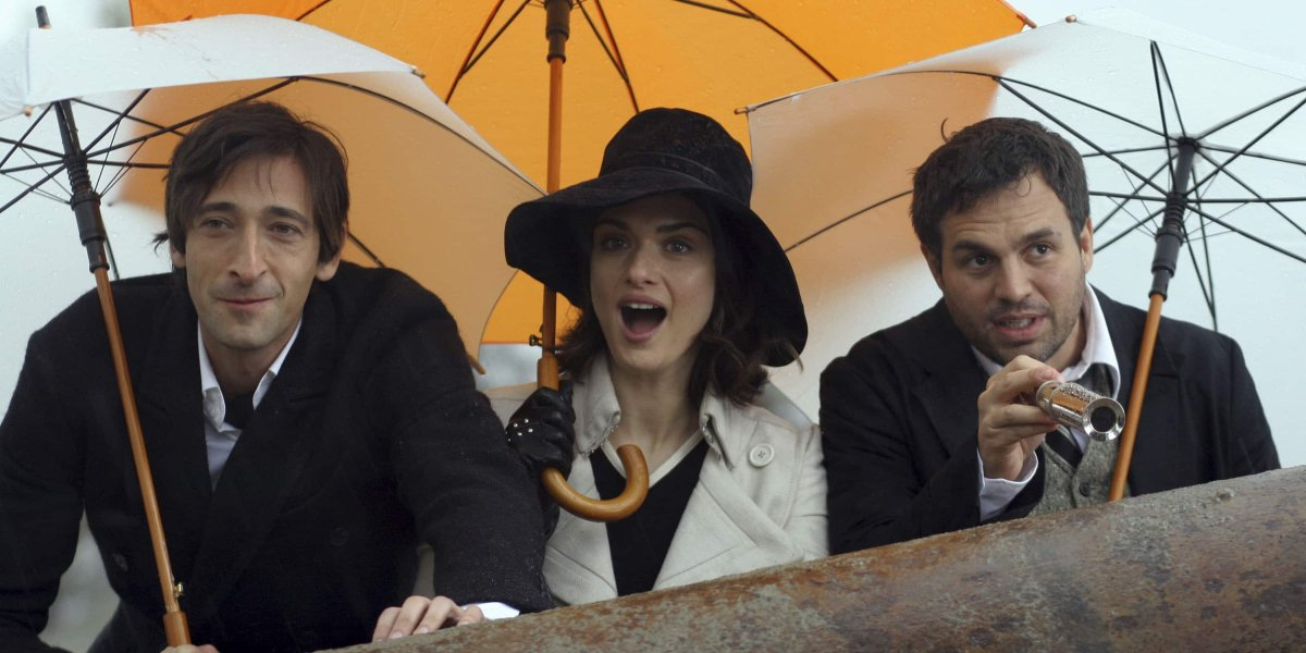 Adrien Brody, Rachel Weisz, and Mark Ruffalo in The Brothers Bloom