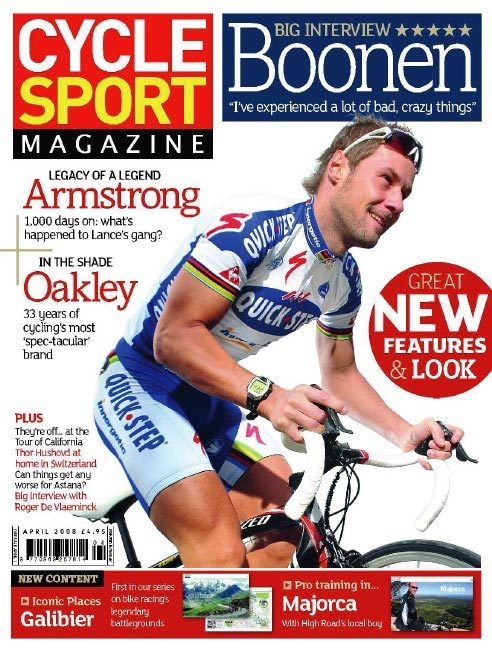 Cycle Sport April 2008 cover