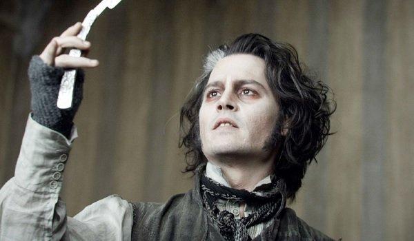 Sweeney Todd The Demon Barber of Fleet Street Johnny Depp razor to the sky