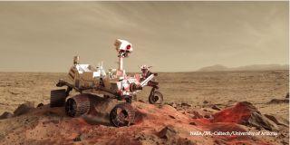 Lidar laser system on rover