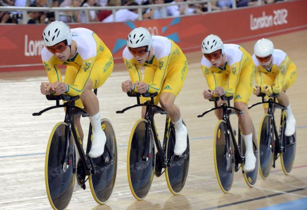Australia, team pursuit, London 2012 Olympic Games, track day two