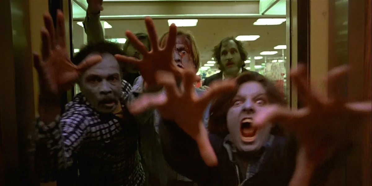 Dawn of the Dead zombies flood the elevator