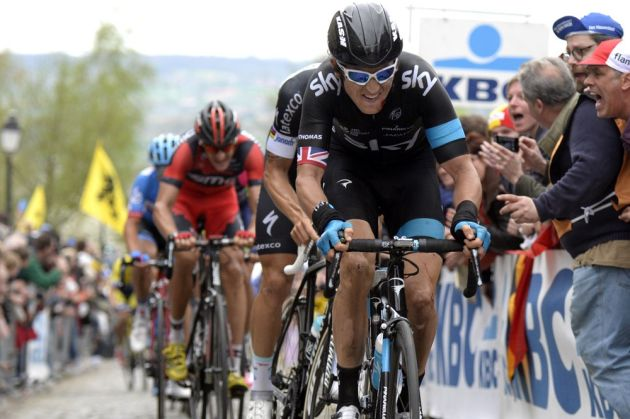 Geraint Thomas in the 2014 Tour of Flanders