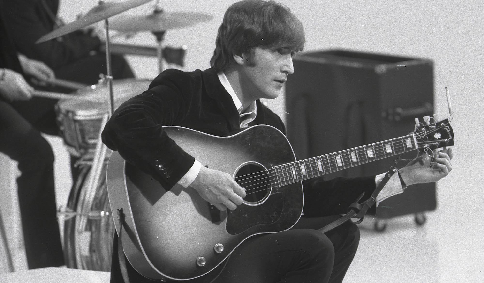 Explore John Lennon S Acoustic Guitar Technique With The Beatles Guitar World