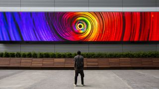 Second Story's CODA project creates an exciting outdoor space with a huge video wall.