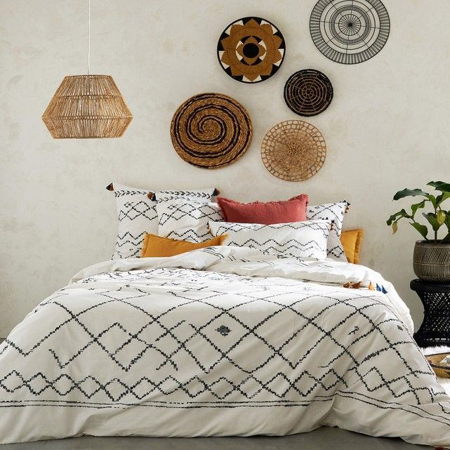 AFAW Moroccan tassel cotton duvet cover