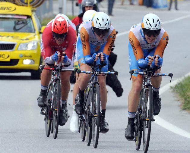 Garmin. Giro d'Italia 2010, stage 4 TTT