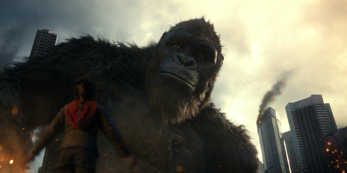 King Kong looking down in Godzilla vs. Kong