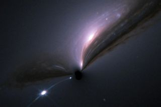 Supernova and its host galaxy with black hole