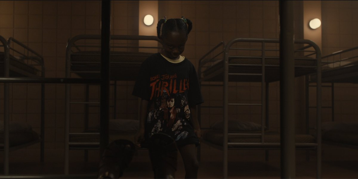 young Red wearing Thriller T-shirt in Us