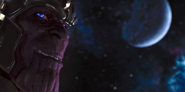 Thanos smirking in The Avengers