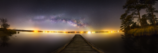 Milky Way and Five Planets from Texas