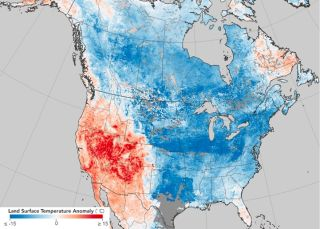 This temperature anomaly map is based on data from the Moderate Resolution Imaging Spectroradiometer on NASA's Terra satellite. It shows land surface temperatures from Dec. 26, 2017 to Jan. 2, 2018, compared with the 2001–2010 average for the same eight-d