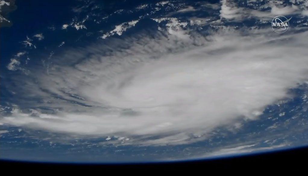 La NASA ve el huracán Dorian desde la estación espacial    [ing]