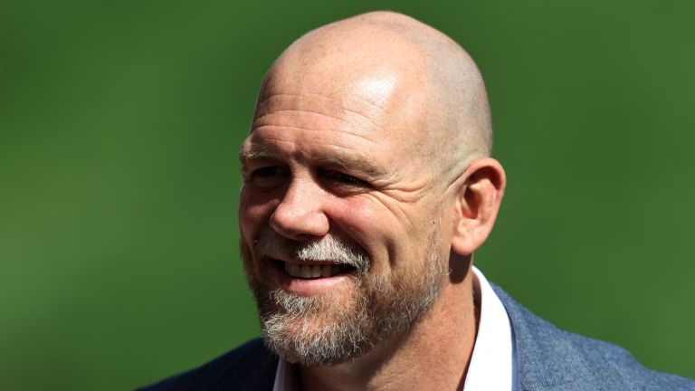Mike Tindall smiles for the camera