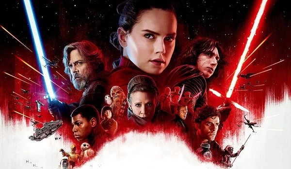 Star Wars: The Last Jedi exciting cast banner in the stars