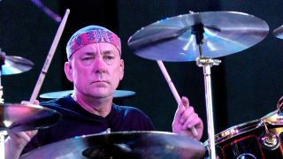 Neil Peart onstage