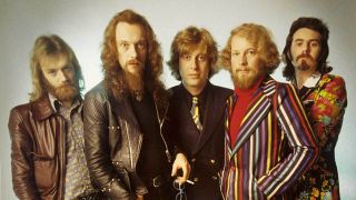 Prog rock band Jethro Tull in 1972, with singer Ian Anderson second left
