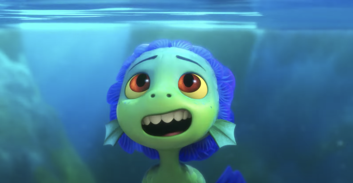 Jacob Tremblay's Luca as a sea monster in the Pixar animated film