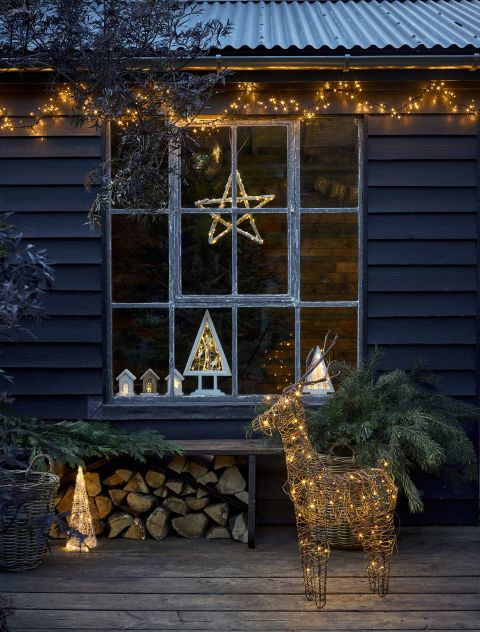Stylish Outdoor Decorations, Outdoor Icicle Lights Warm White Argos