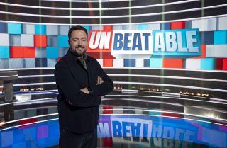 Jason Manford on the set of shiny new BBC1 quiz show Unbeatable.
