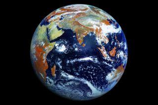Earth from orbit.