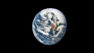 NASA astronauts took this photo of Earth from 36,000 nautical miles away during the Apollo 10 mission in 1969.