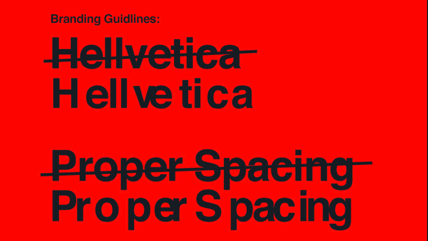 Reimagined Helvetica is a hilarious horror story