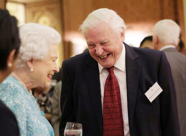 Queen and David Attenborough