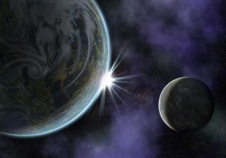 planet and moon system