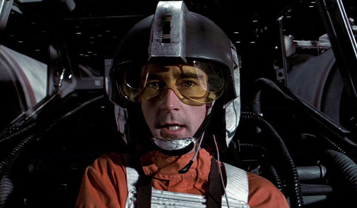 Star Wars Wedge Antilles flying in his X-Wing