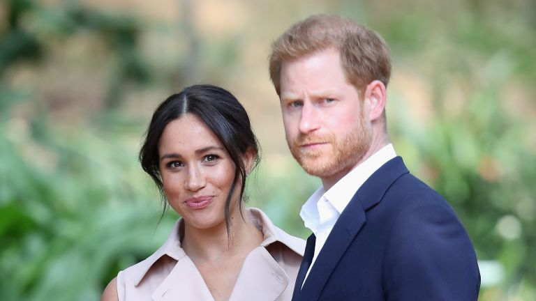 Prince Harry, Duke of Sussex and Meghan, Duchess of Sussex attend a Creative Industries and Business Reception on October 02, 2019 in Johannesburg, South Africa