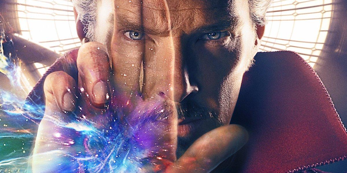Benedict Cumberbatch closeup in Doctor Strange poster