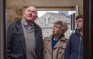 Emmerdale spoilers! DIY drama…Diane Sugden and Doug Potts clash over a nasty crack in the wall at the B&B