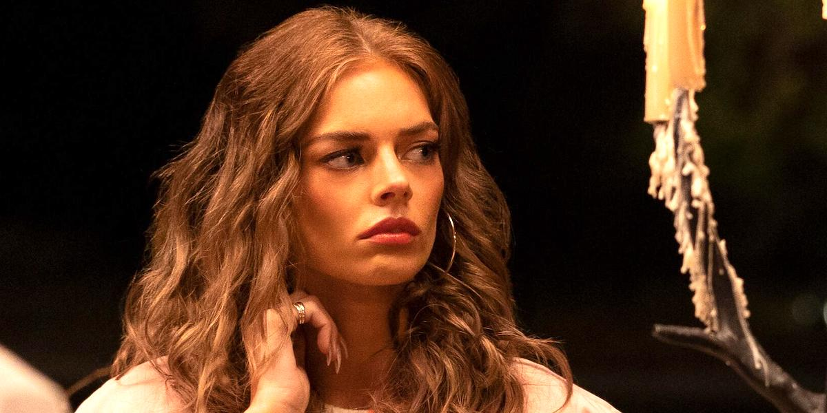 Samara Weaving as Jessica Chandler in Nine Perfect Strangers