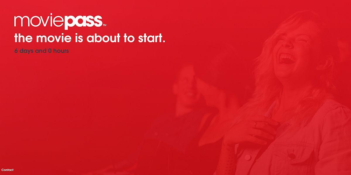 Moviepass homepage
